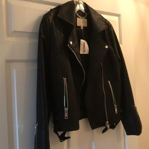 Moon River Faux leather jacket NWT